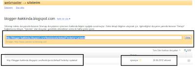 Yandex Sitemap Ekleme