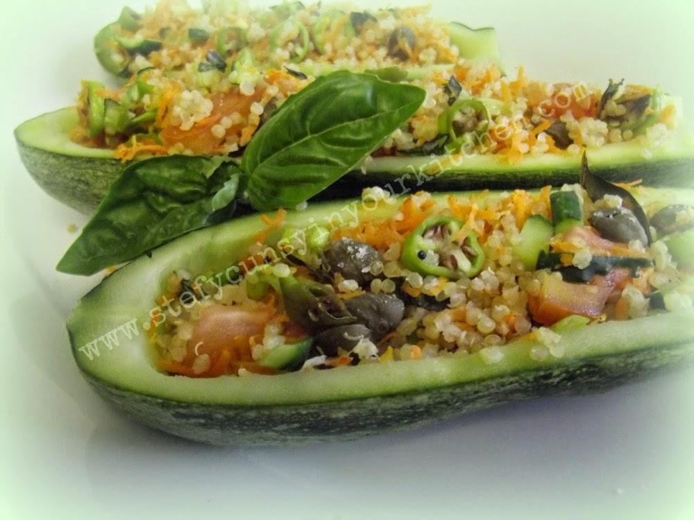 Stefycunsyinyourkitchen zucchine ripiene di quinoa ed for Ortaggi estivi