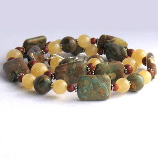 Semi-Precious Stone Necklace from Lilies and Laurel