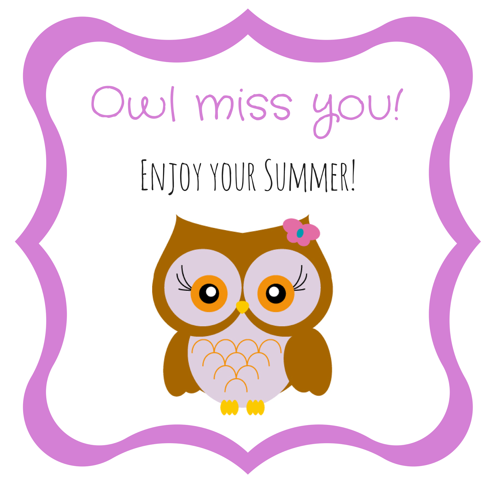 Exceptional image intended for owl miss you printable