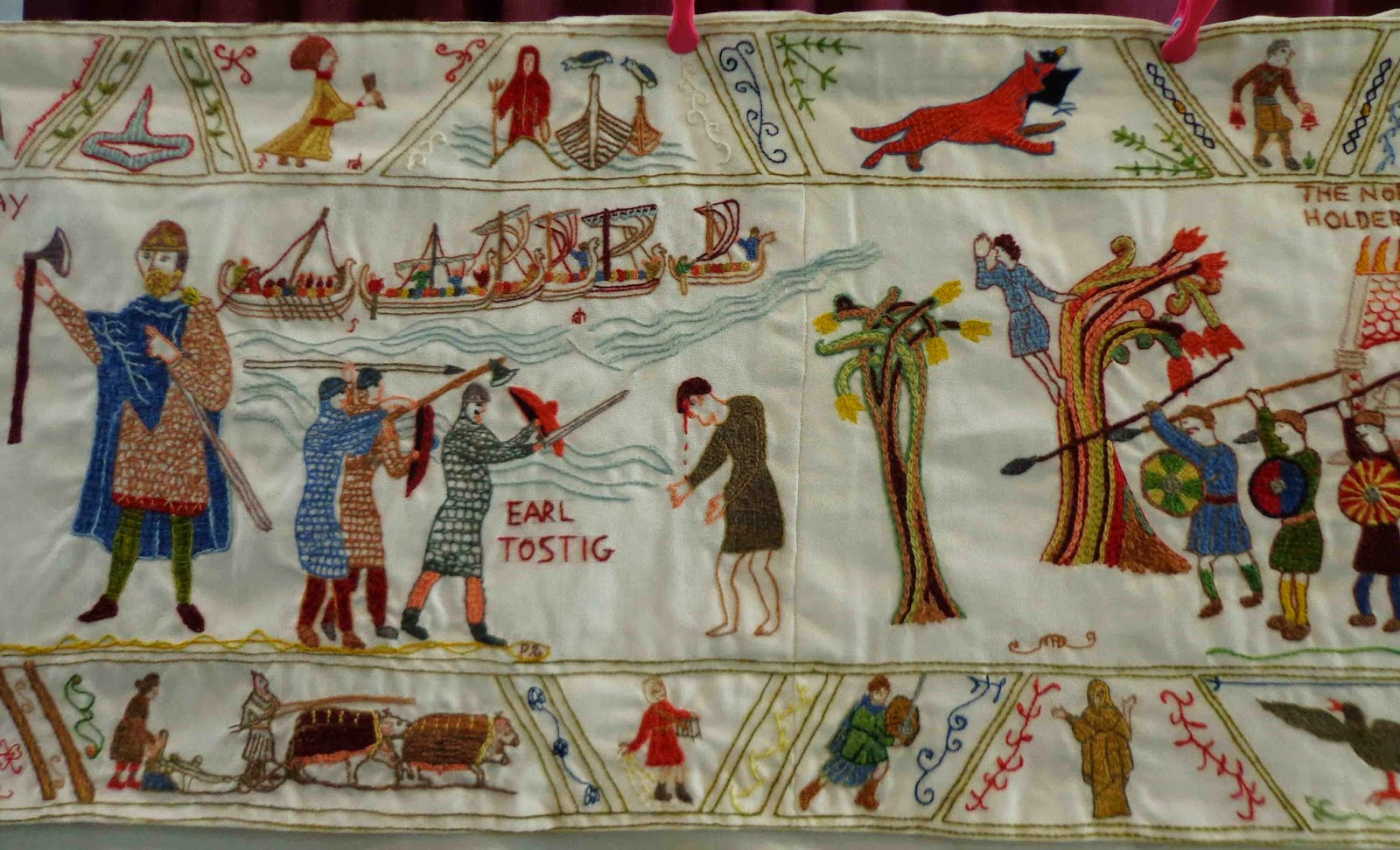 Hippystitch The Fulford Tapestry - Germany beck york map