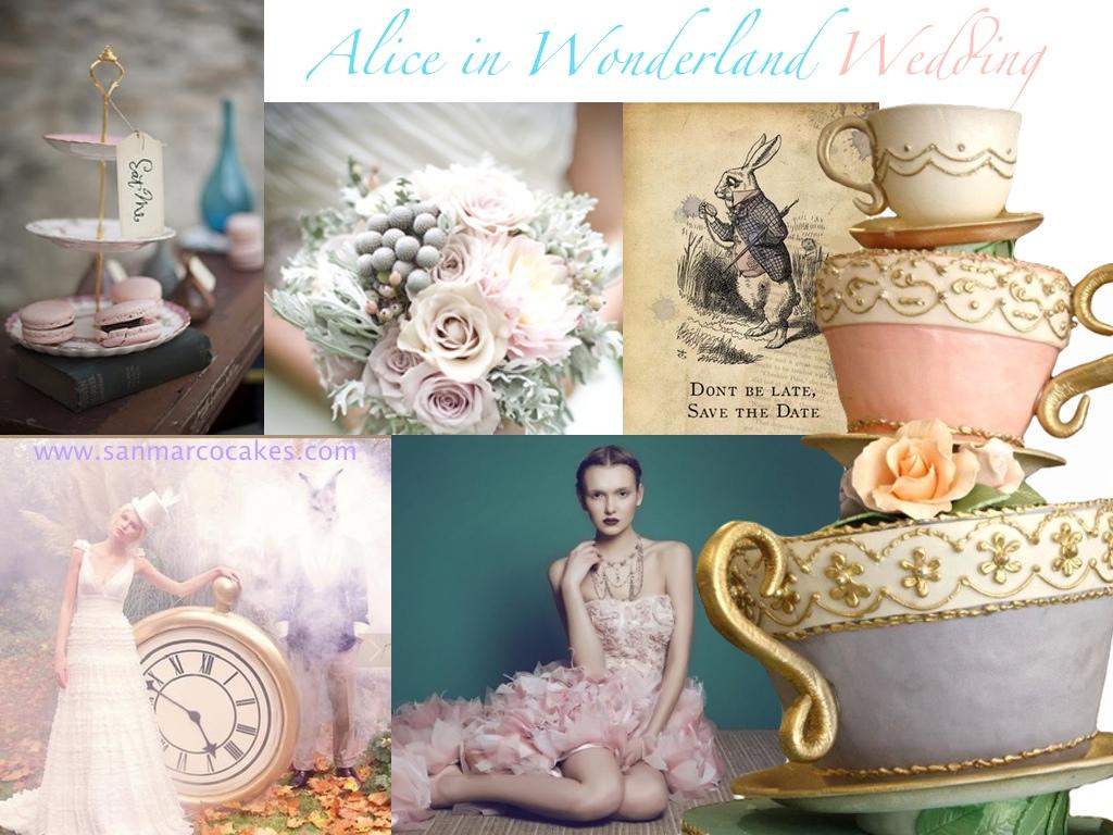 San Marco Cakes Alice In Wonderland Wedding Theme Tea Cup Cake