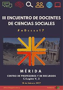 Cartel III Encuentro de Docentes de Ciencias Sociales