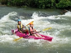 Whitewater rafting by Kayak level 3