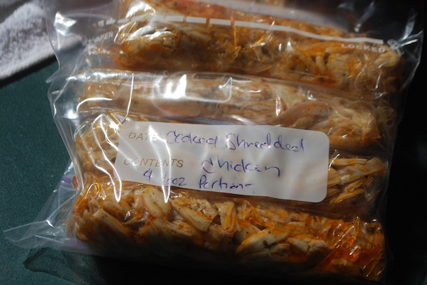 Freezer meals cooked shredded chicken 10 super easy dinner ideas cooked shredded chicken recipe for freezing forumfinder Choice Image