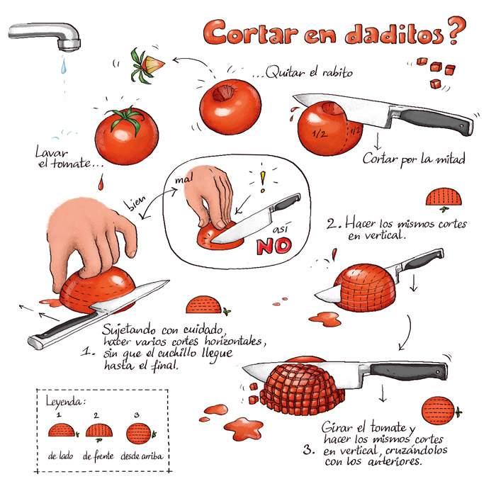 Saucir de cocina tipo de cortes for Tipos de cocina