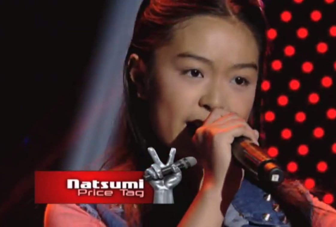 "Natsumi Saito a half Filipino half Japanese charms Coach Bamboo with her rendition of Jessie J's hit ""Price Tag""."
