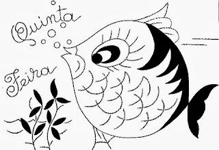 desenho semaninha do peixinho de aquario - quinta- feira