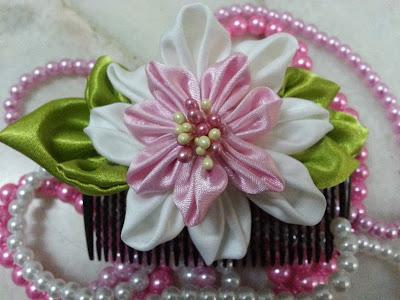 tsumami kanzashi, hair comb, hair accessory, Malaysia