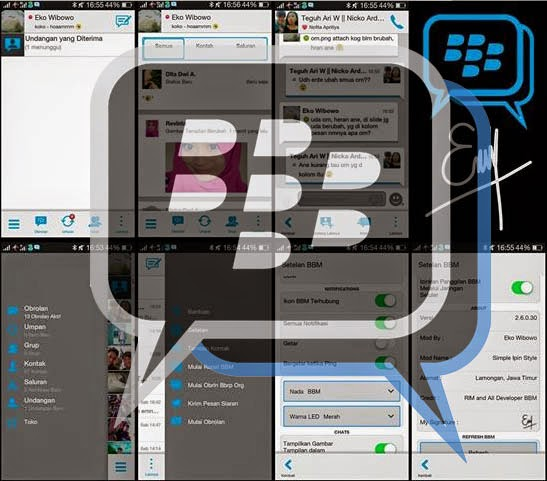 Download apk BBM Mod Versi 2.6.0.30 Thema Simple Ipin Style
