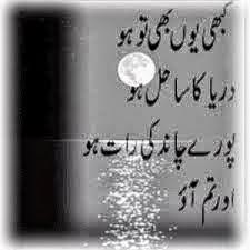 Sahil Samandar SMS Shayari In Urdu