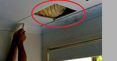 ماذا اكتشف رجل وزوجته فى سقف المنزل بعد نزول سائل بنى