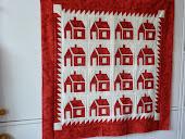 Mijn tweede huisjes quilt 2012