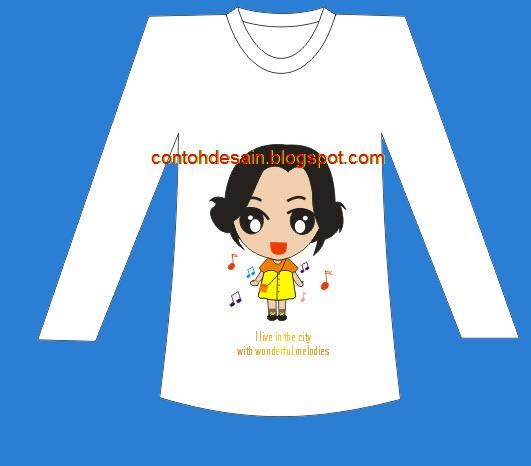 Desain Kaos Cewek Cantik Imut Imut Cicicuit