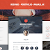 Krish parallax one page resume & portfolio Theme