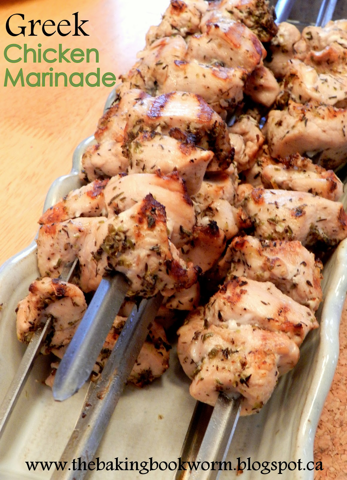 Greek Chicken Kabobs Marinade Greek chicken marinade