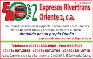 EXPRESOS RIVERTRANS ORIENTE 2, C.A. en Paginas Amarillas tu guia Comercial