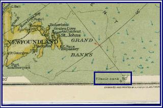 Arctic Map 1925 Titanic