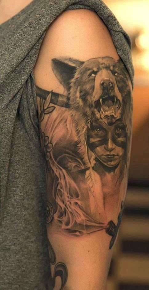 ♥ ♫ ♥ This Pin was discovered by Donna Baker. Discover (and save!) your own Pins on Pinterest. | See more about totem tattoo, bear tattoos and wolf girl tattoos. ♥ ♫ ♥