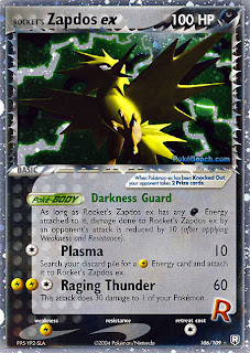 Rocket's Zapdos EX Team Rocket Returns Pokemon Card Set
