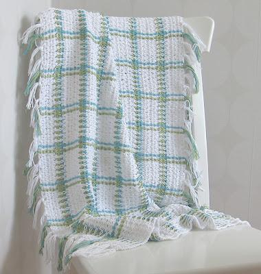 free crochet woven blanket pattern