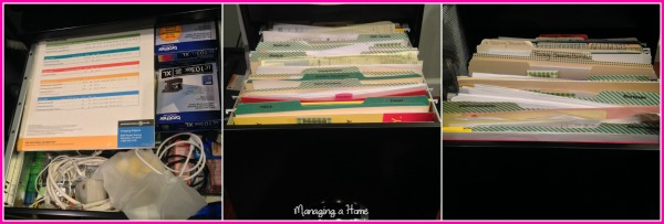 Before Filing Cabinet Organization - Paperwork focus for Month 2 of Operation: Project Organize