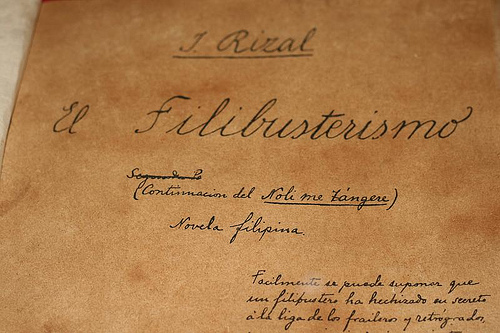 returns in the guise of Simoun in El Filibusterismo published in 1891