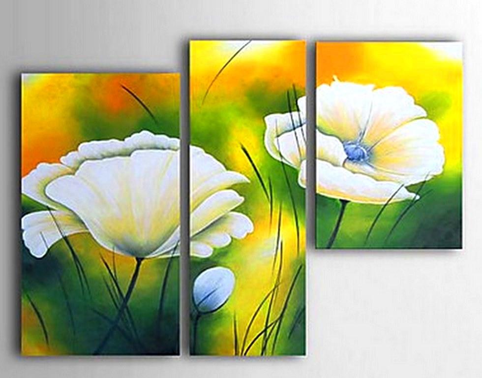 Cuadros modernos pinturas y dibujos pintura de flores for Cuadros de oleo modernos