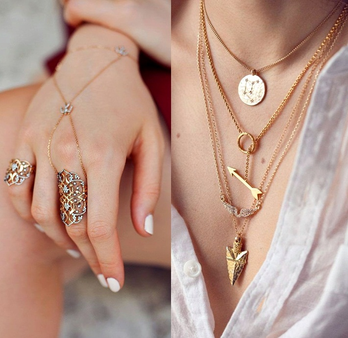 THIS Is How You Stack Rings, Bracelets And Necklaces, layering delicate jewelry
