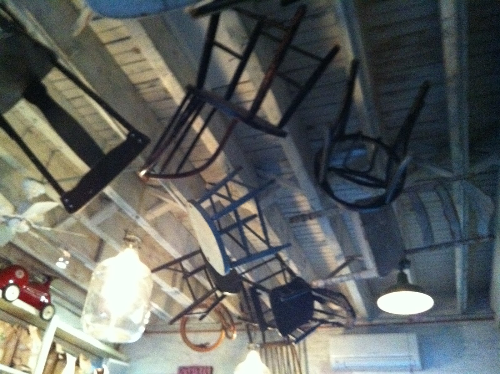 Decor Musings: Ceiling Drama at Brooklyn's Saraghina Italian ...