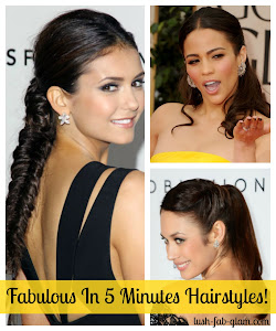Get ready in 5 minutes or less with these fabulous hairstyles!