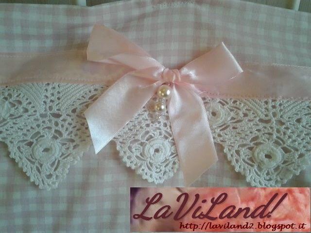 Laviland cuscino con merletto ad uncinetto for Merletti all uncinetto