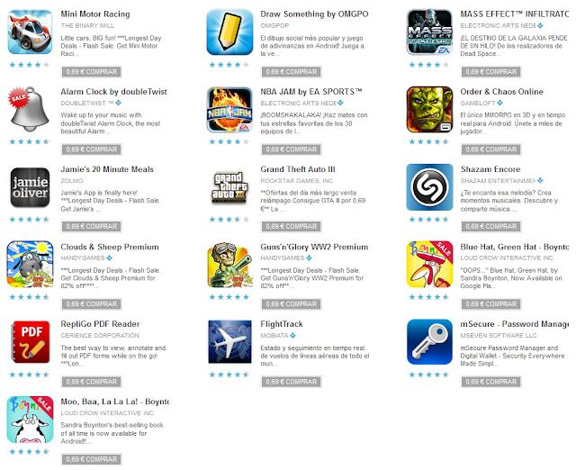 Promoción de verano de aplicaciones y juegos en Google Play