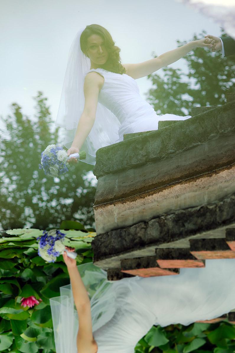 vestuvinė fotografija gamtoje