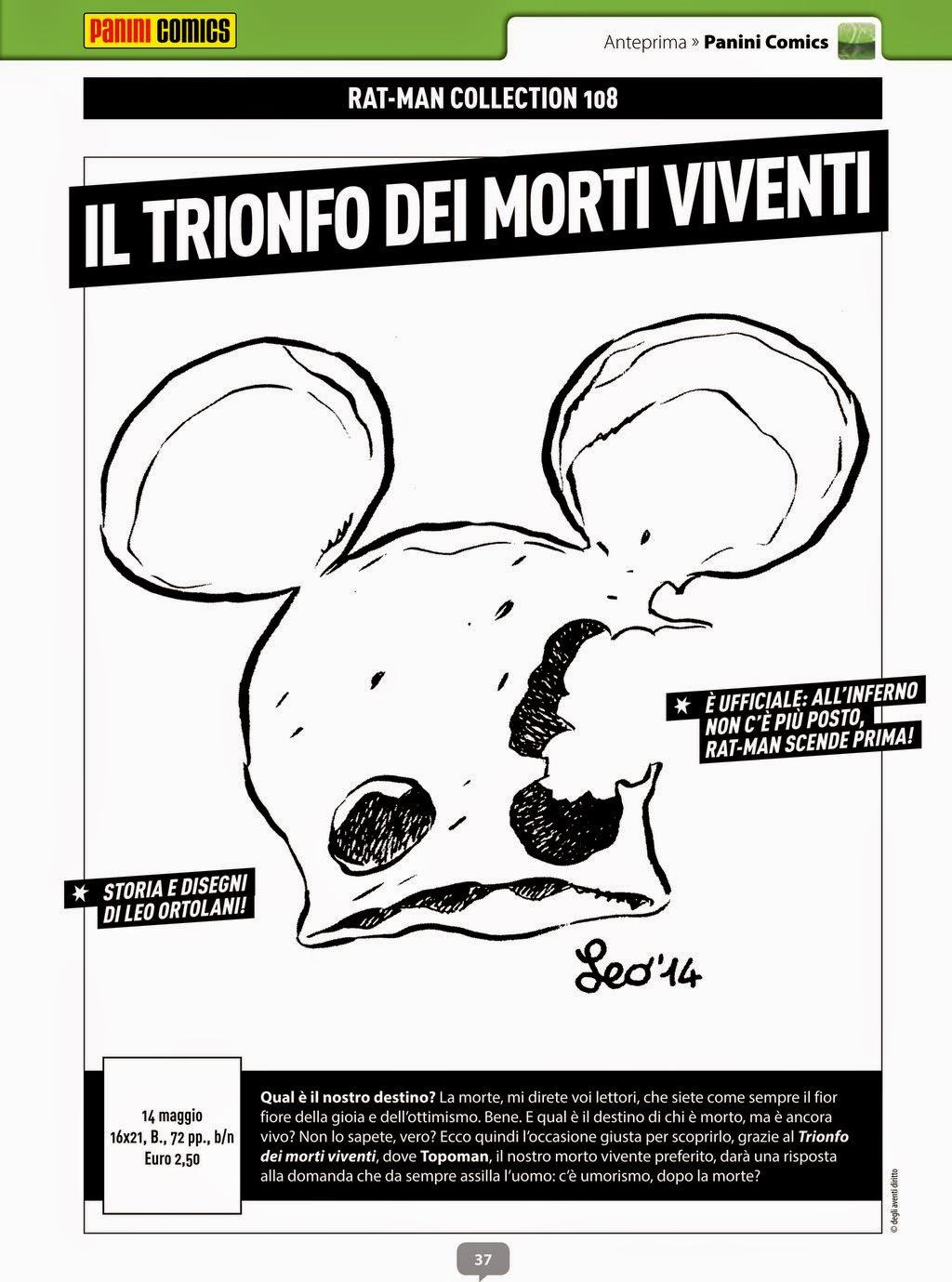 Rat-man #108 - The Walking Rat - Il trionfo dei morti viventi (Anteprima #282 Febbraio 2015)