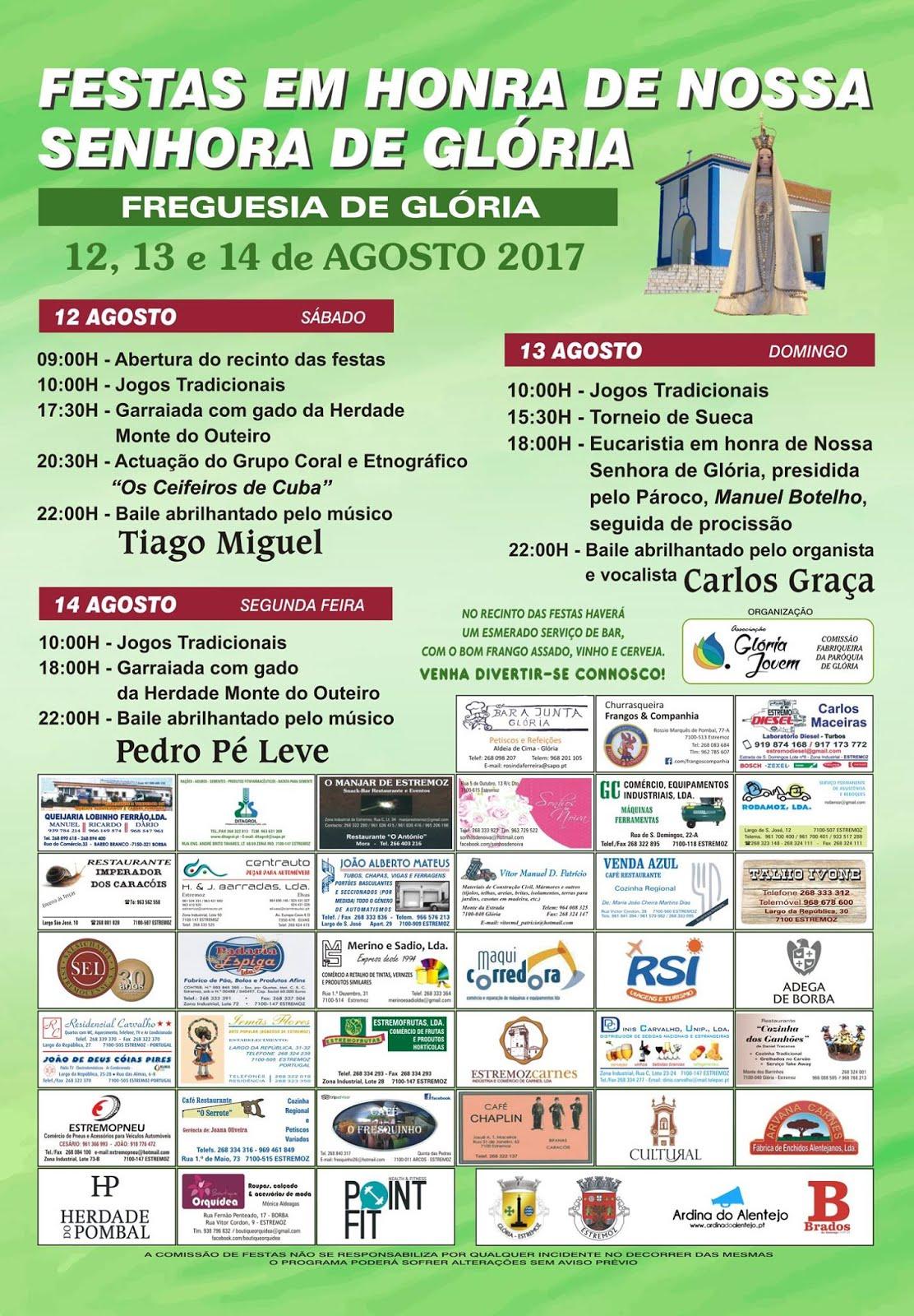 FESTAS EM HONRA DE NOSSA SENHORA DA GLÓRIA - FREGUESIA DE GLÓRIA (ESTREMOZ)