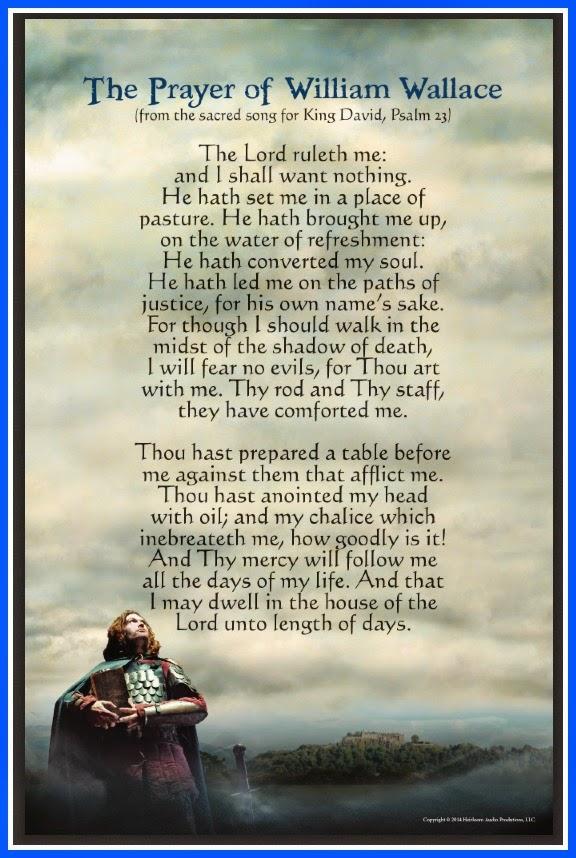 Prayer of William Wallace (Psalm 23)