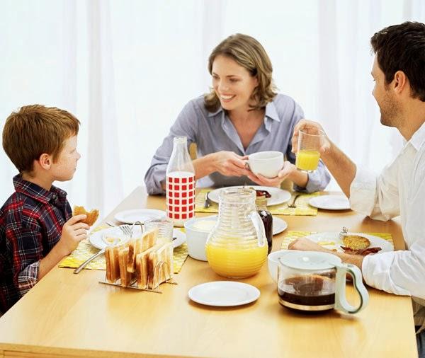 El hábito de desayunar en familia