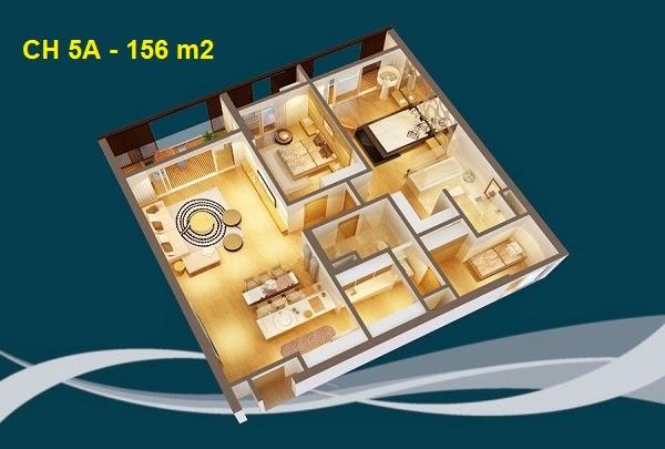 Thiết kế chi tiết căn hộ 5A - 156m2 chung cư Dolphin palza 28 trần bình