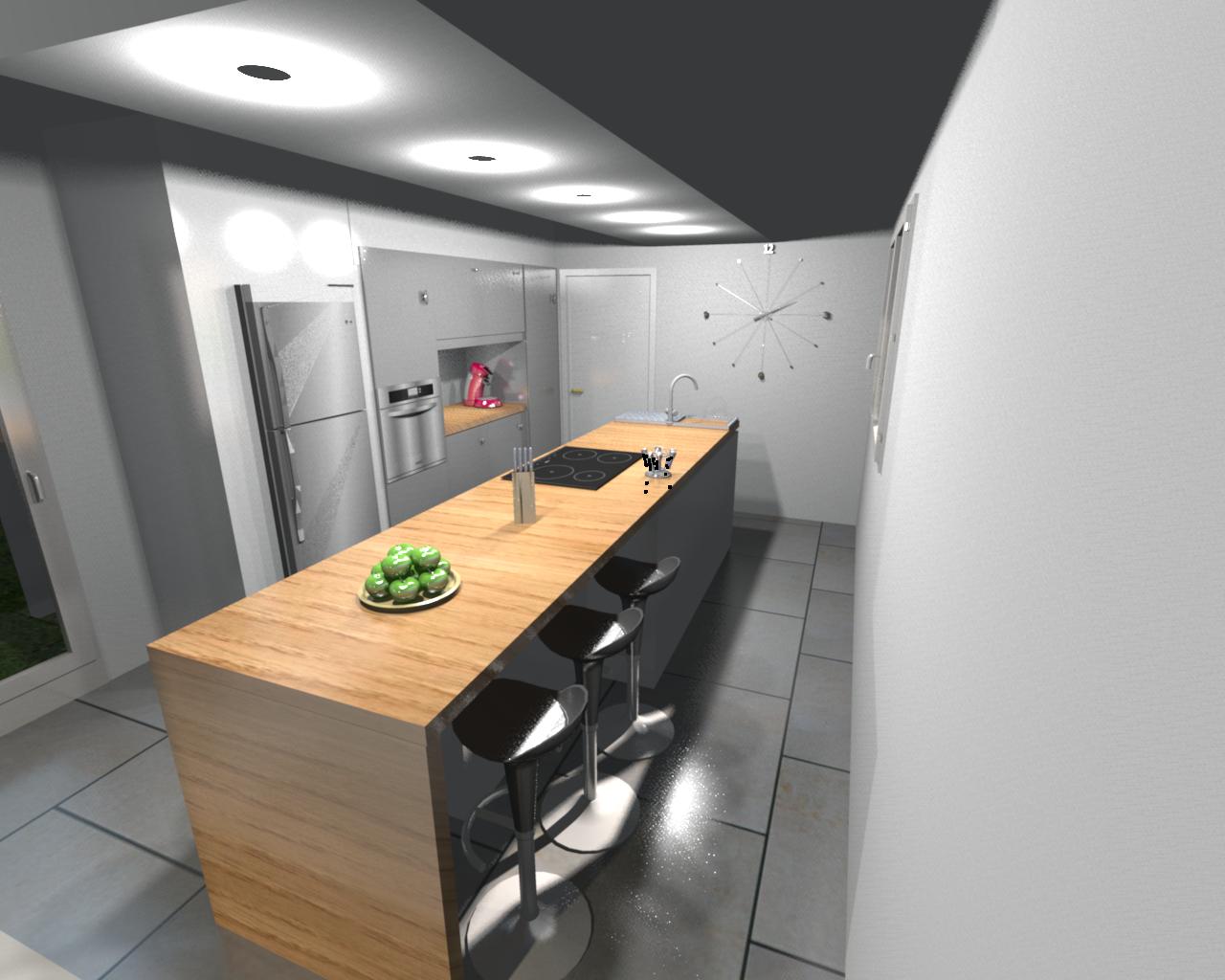 Vues 3d cuisine notre construction avec thomas et piron for Construction cuisine