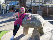 Kristy poses in the park in Solvang