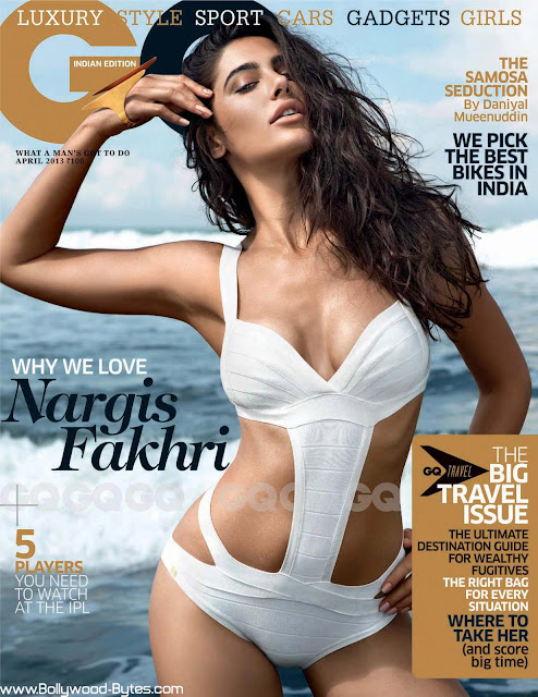 Super Hot Nargis Fakhri Cover Girl GQ India April