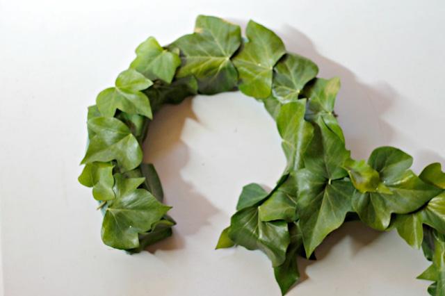 DIY hojas plancha espuma atodoconfetti manualidades hiedra number