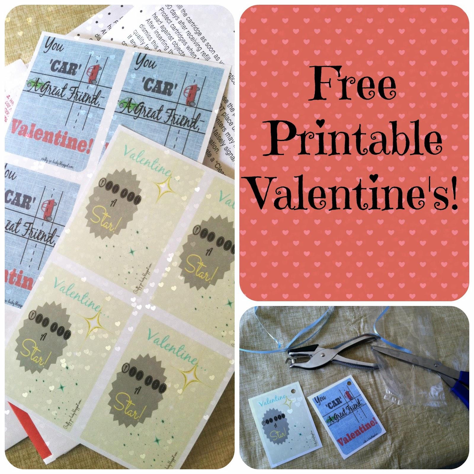 Free Valentine Printable's! (3x5 & 4x6)