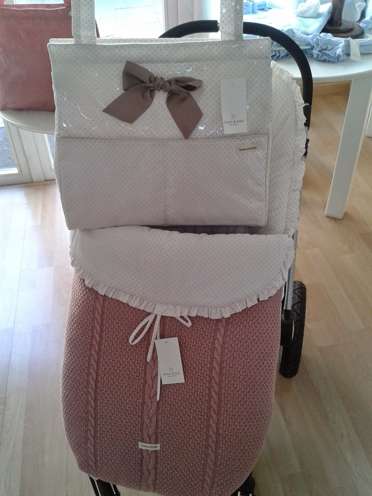 Lazos beb s saco silla home kids punto rosado y panera - Sacos silla bebe baratos ...