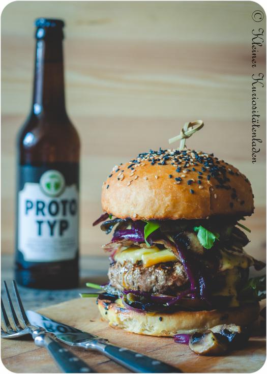 Champignon-Deluxe-Wolkenkratzerburger