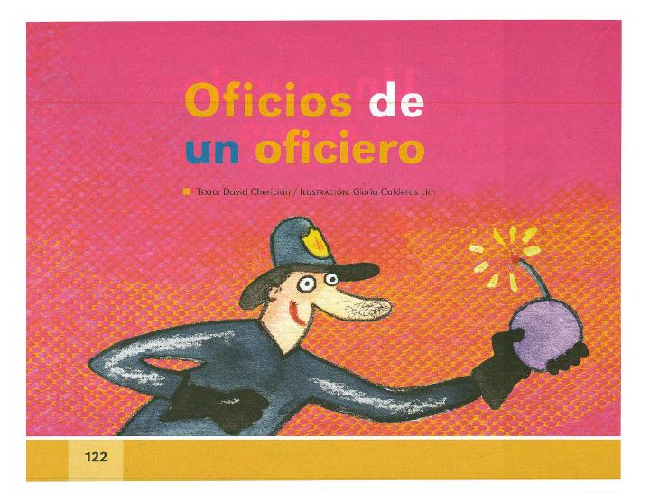 Oficios de un ofíciero español lecturas 2do bloque 5/2014-2015