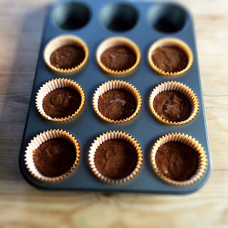 Chocolate egg free cupcakes tray