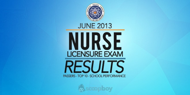 PRC release NLE results June 2013 nursing board exam
