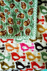 Folk Birds & Paisley - Cotton Quilt